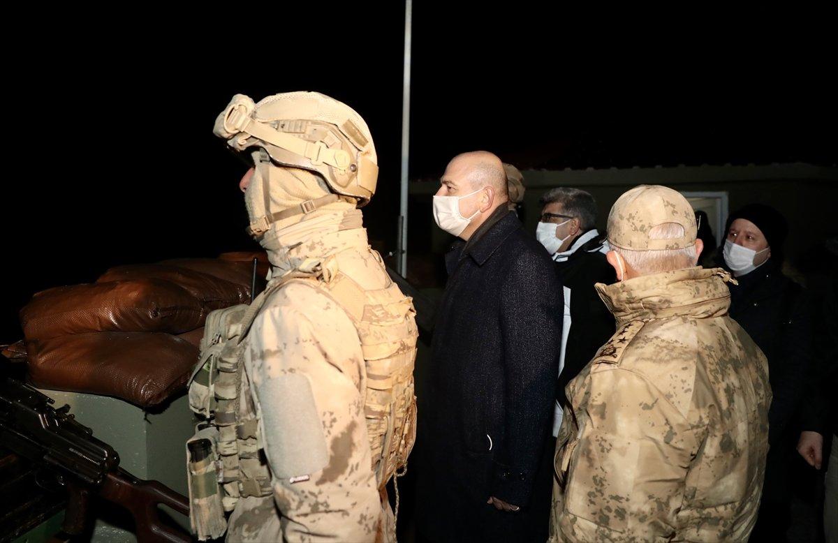 Süleyman Soylu, yeni yıla Belbuka kalekol üs bölgesindeki askerlerle girdi #2