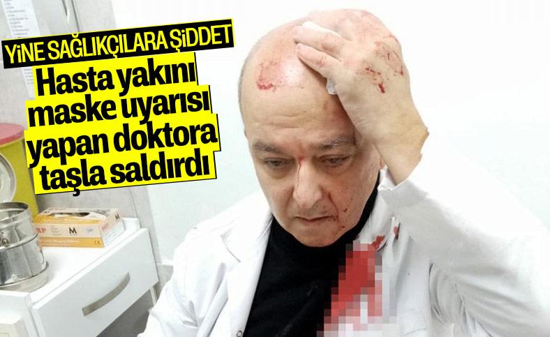 İzmir'de maske uyarısı yapan doktora taşlı saldırı
