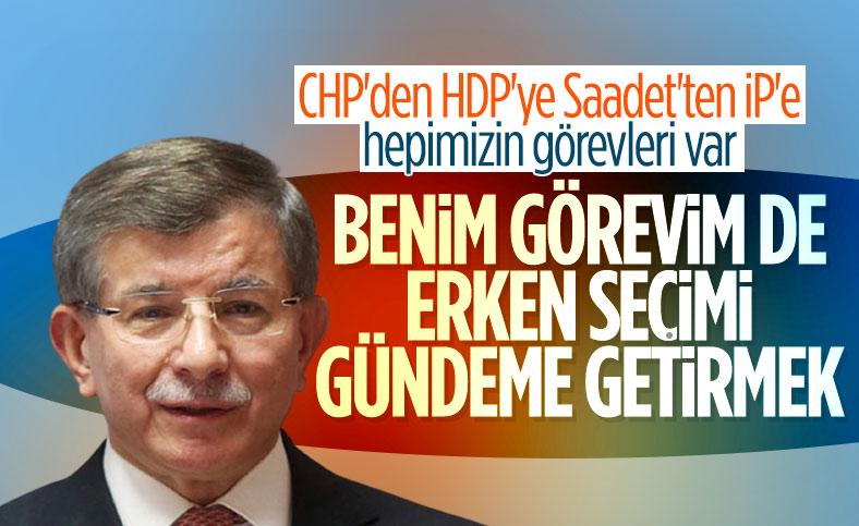 Ahmet Davutoğlu'ndan erken seçim açıklaması