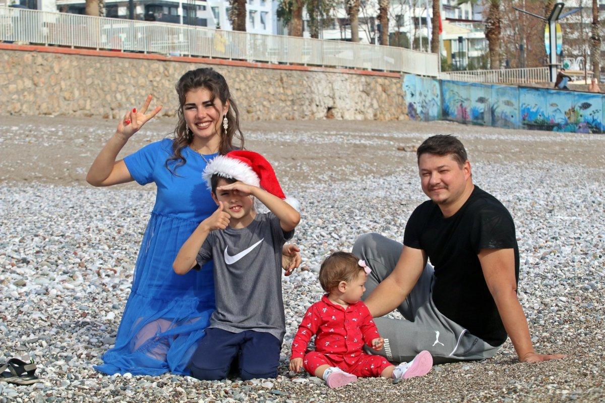 Türkiye aşığı Rus turistin Antalya daki deniz keyfi #10
