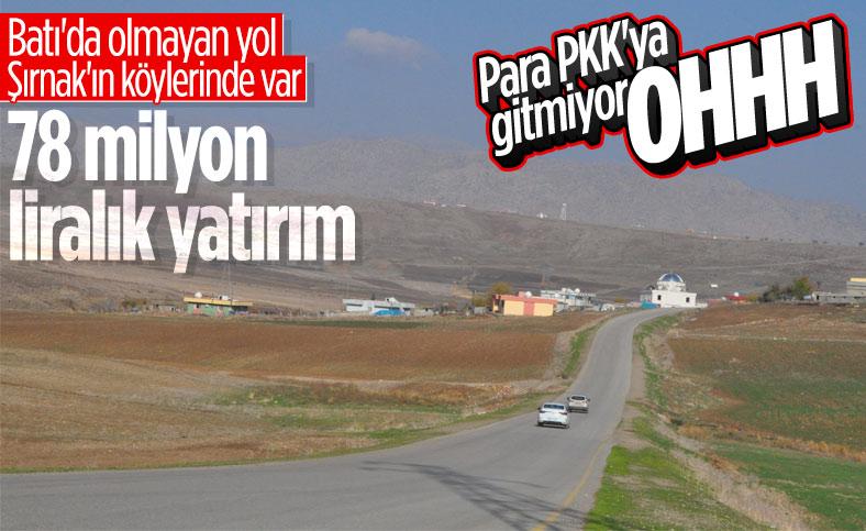 Şırnak'ta köy yollarına 78 milyon liralık yatırım yapıldı