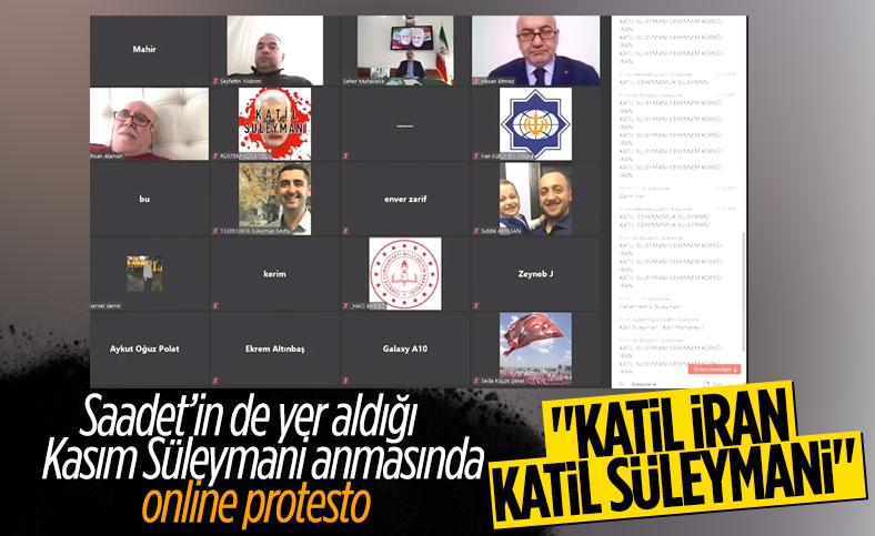 Kasım Süleymani anmasına online protesto