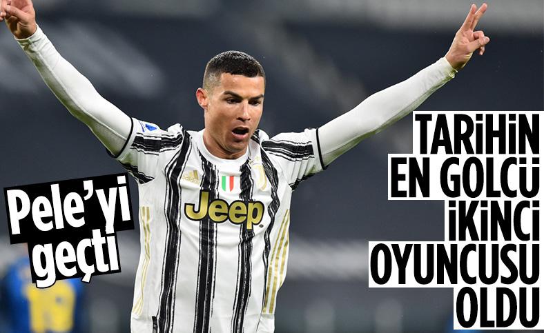 Ronaldo, Tarihin en golcü ikinci oyuncusu oldu