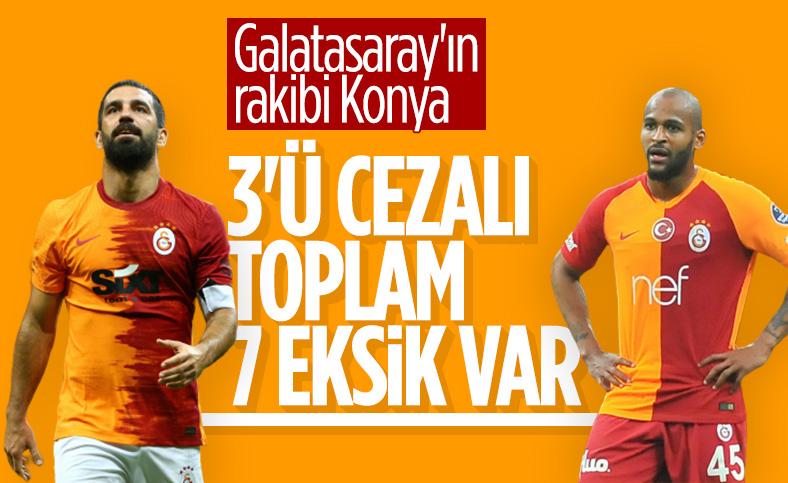 Galatasaray'da 7 isim Konyaspor maçında yok