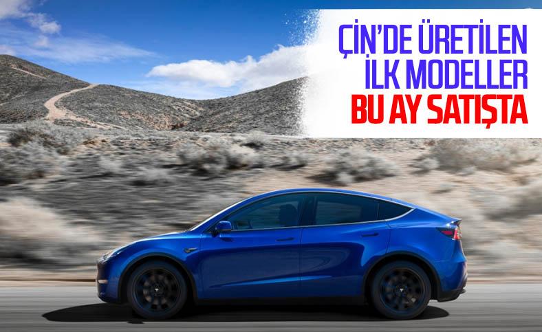 Çin malı Tesla Model Y, bu ay satışa çıkacak