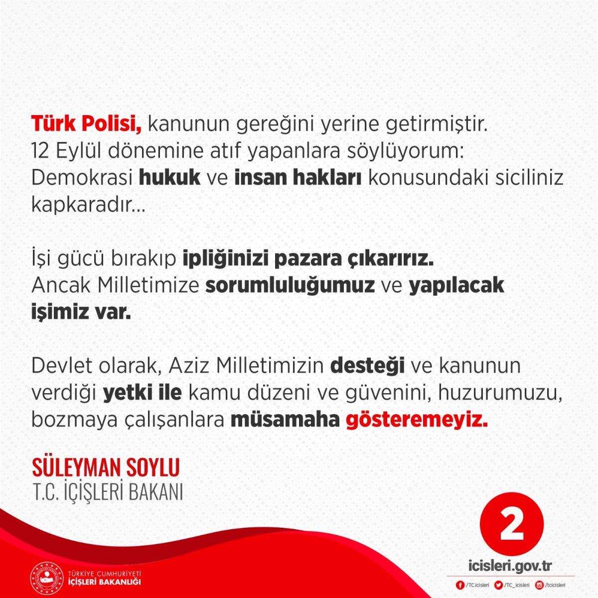 Süleyman Soylu: Türk Polisi, doğru yapmıştır #2