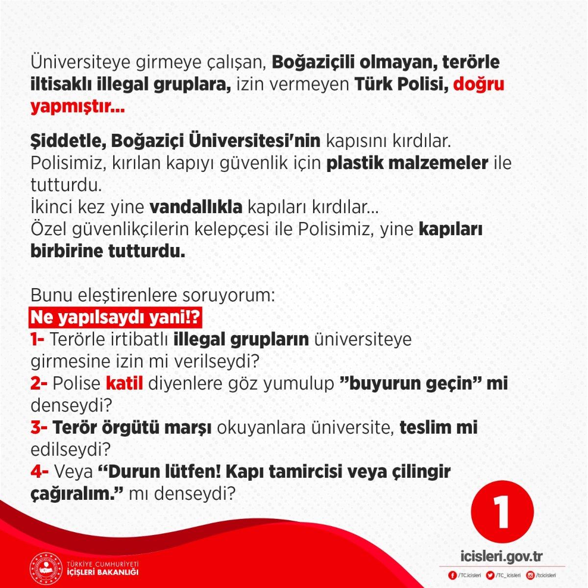 Süleyman Soylu: Türk Polisi, doğru yapmıştır #1