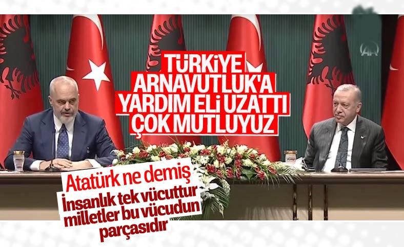 Arnavutluk Başbakanı Rama, Atatürk'ün sözüyle Türkiye'yi anlattı