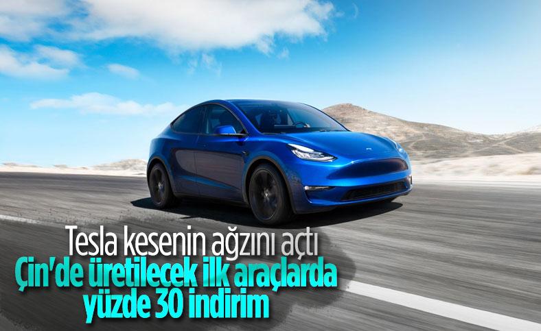 Tesla'dan Çin üretimi Model Y için yüzde 30 indirim