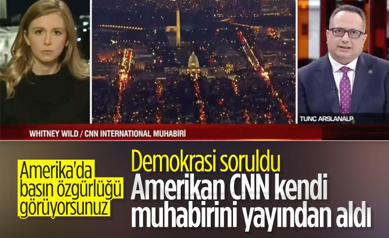 CNN Türk yayınına katılan CNN International muhabiri yayından alındı