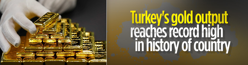 Turkey produces 42 tonnes of gold in 2020