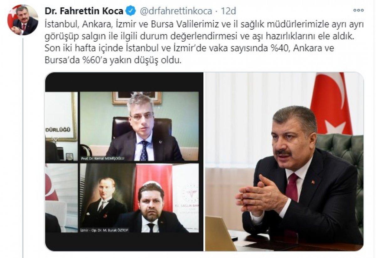 Fahrettin Koca dan vaka sayılarına ilişkin açıklama #1