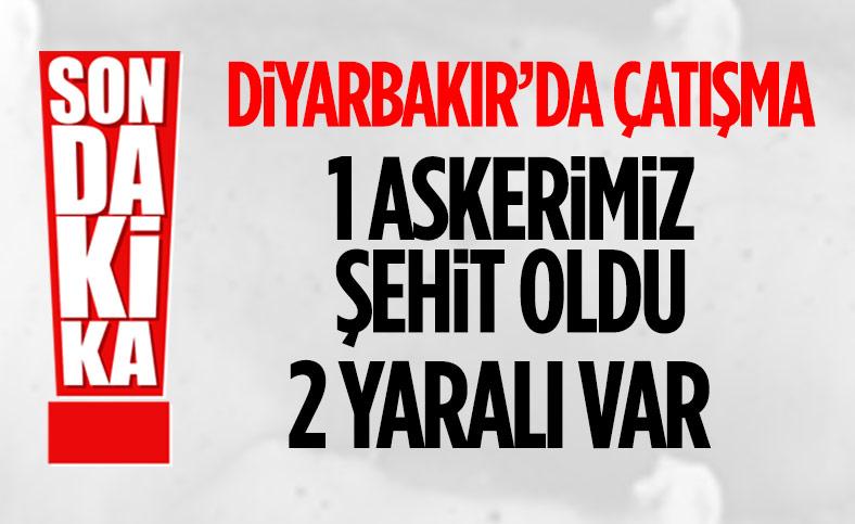 Diyarbakır'da 1 askerimiz şehit oldu