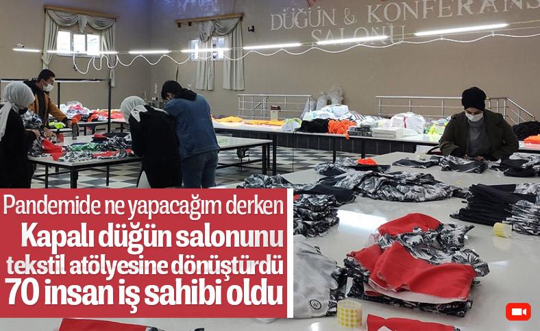 Düğün salonunu tekstil atölyesine dönüştüren Batmanlı girişimci, 70 kişiye iş verdi