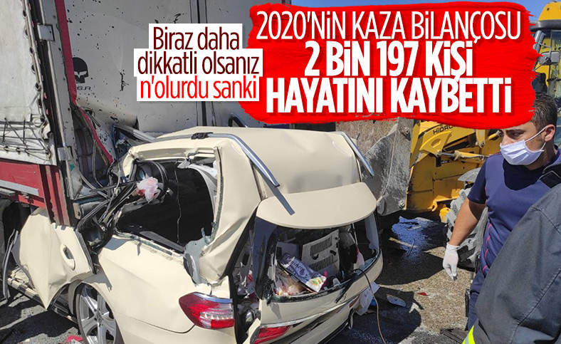 Türkiye'de 2020 yılında 365 bin 5 kaza meydana geldi