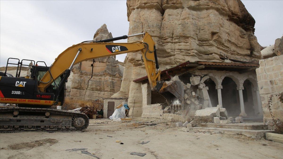 Kapadokya da son 2 yılda 310 izinsiz yapı yıkıldı #2