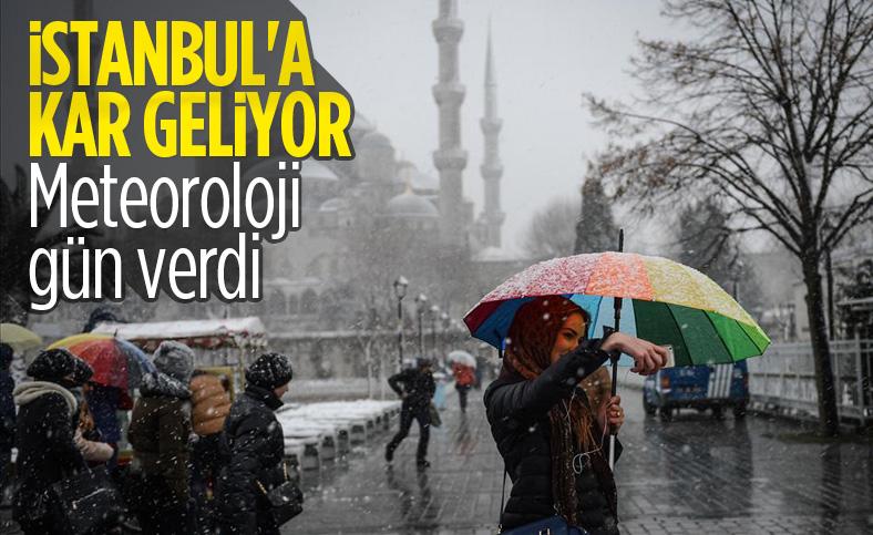 Meteoroloji, İstanbul'u kar yağışı için uyardı