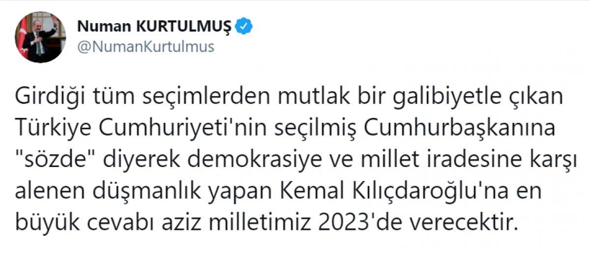 Kılıçdaroğlu nun,  sözde cumhurbaşkanı  sözü, büyük tepki topladı #10