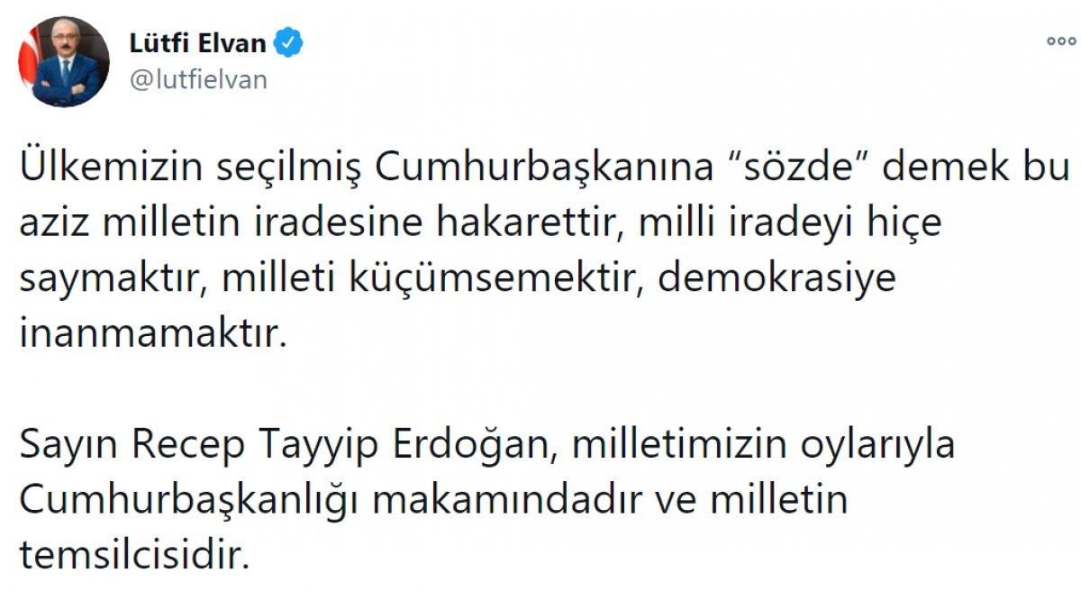Kılıçdaroğlu nun,  sözde cumhurbaşkanı  sözü, büyük tepki topladı #9