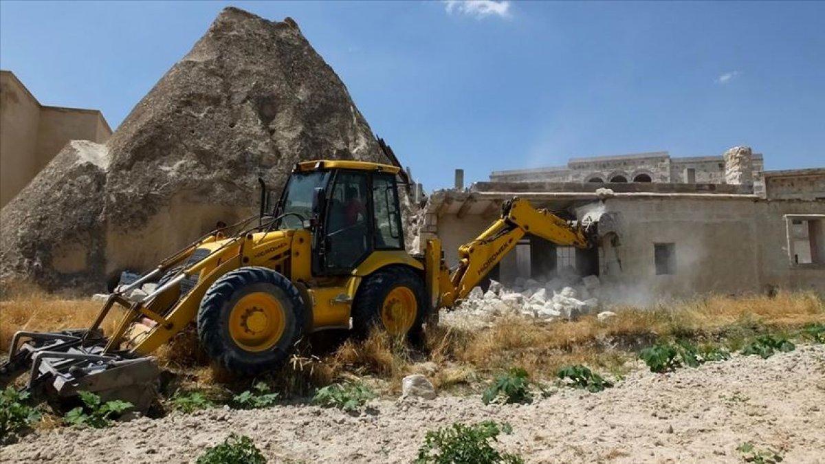 Kapadokya da son 2 yılda 310 izinsiz yapı yıkıldı #6