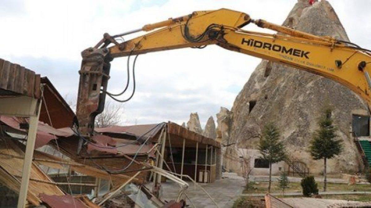 Kapadokya da son 2 yılda 310 izinsiz yapı yıkıldı #5