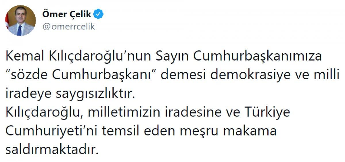 Kılıçdaroğlu nun,  sözde cumhurbaşkanı  sözü, büyük tepki topladı #8