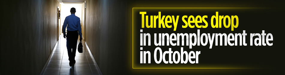 Unemployment rate down in October in Turkey