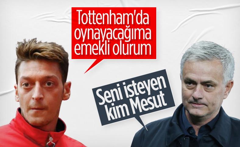 Mourinho'dan Özil'e: Onu Tottenham'ın istediğini kim söyledi