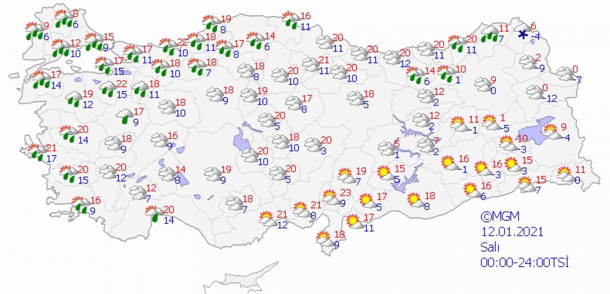 İstanbul # 3 için yağmur uyarısı