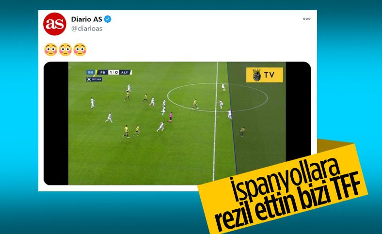İspanyollar, Fenerbahçe maçındaki ofsayt çizgisiyle dalga geçti