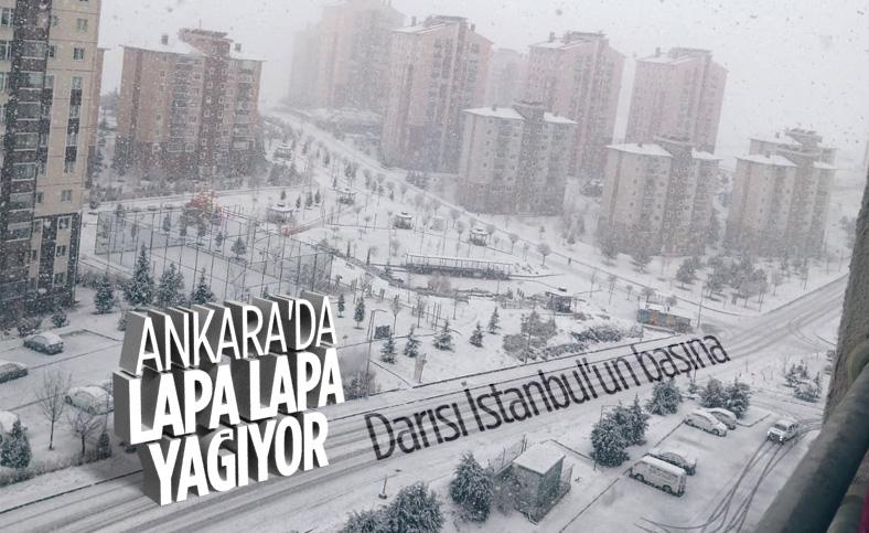Ankara, kar yağışıyla beyaza büründü