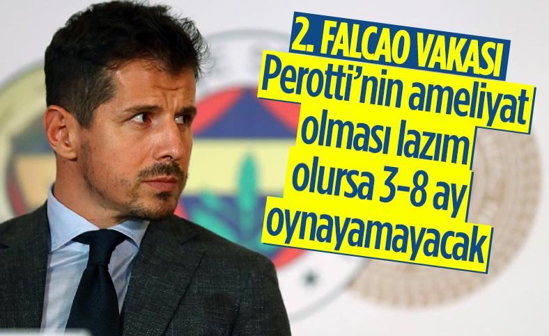 Emre Belözoğlu: Perotti'nin ameliyat olması lazım