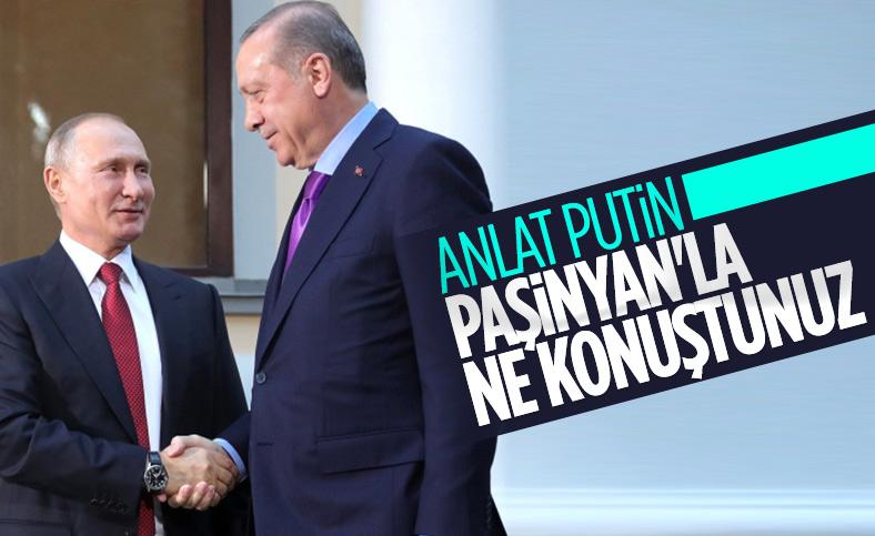 Putin, Karabağ toplantısı konusunda Cumhurbaşkanı Erdoğan'ı bilgilendirdi