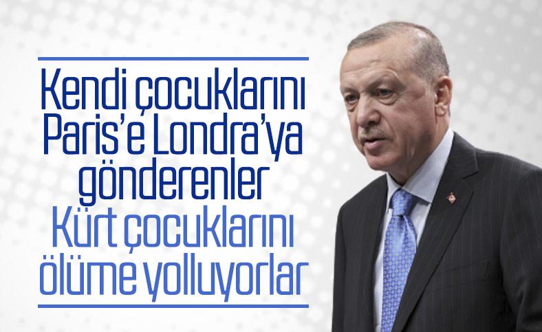 Erdoğan'dan HDP'ye: Analarından kopardıkları çocukları ölüme yolladılar