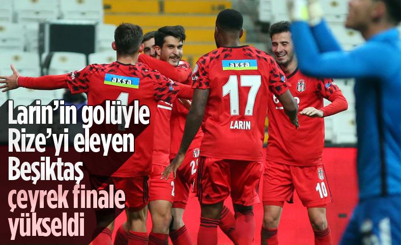 Beşiktaş Türkiye Kupası'nda çeyrek finale yükseldi
