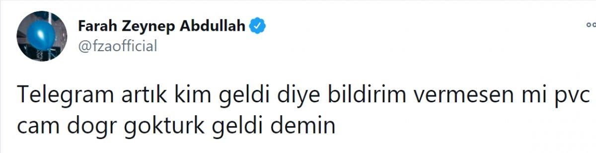 Farah Zeynep Abdullah tan Telegram isyanı #1