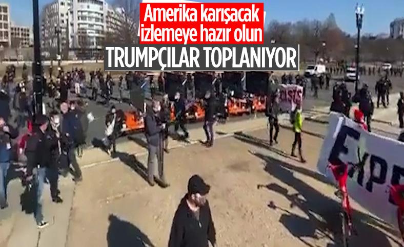 Donald Trump destekçileri, Washington'da toplanıyor