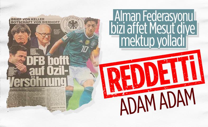 Fritz Keller'den Mesut Özil'e uzlaşma mektubu