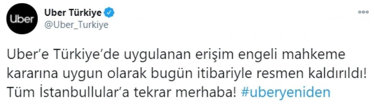 Uber e Türkiye de uygulanan erişim engeli kaldırıldı #1