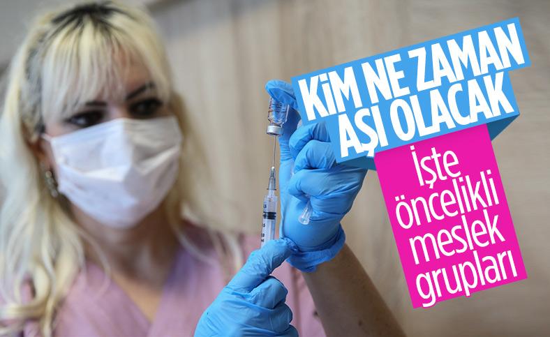 Aşı uygulamasında takip edilecek grup sıralaması belli oldu