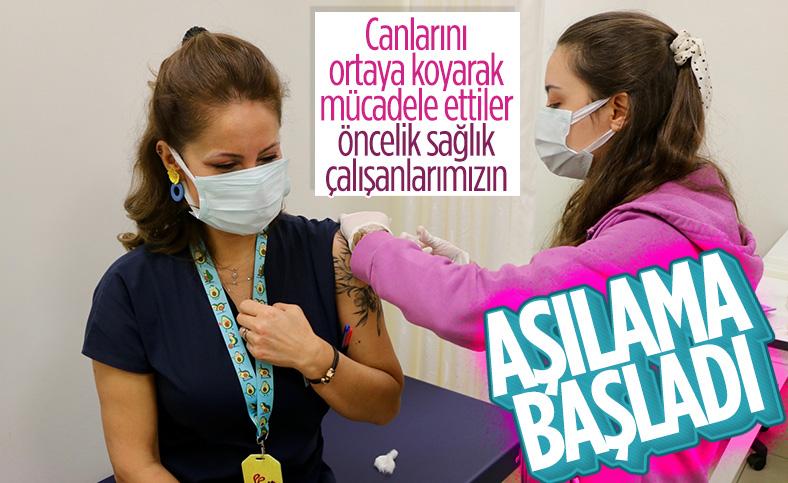İstanbul'da sağlık çalışanları korona aşısı olmaya başladı