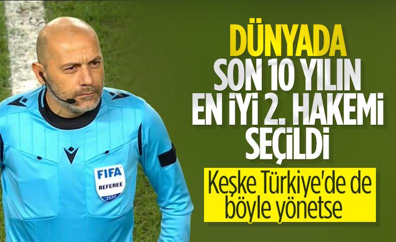Cüneyt Çakır dünyanın en iyi ikinci hakemi seçildi