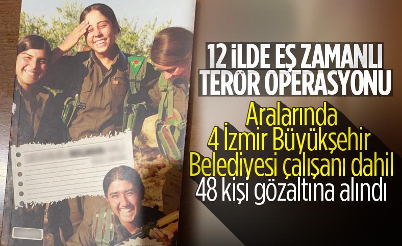 4 İzmir Büyükşehir Belediyesi çalışanı terörden gözaltında