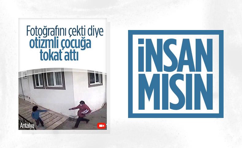 Antalya'da kargo görevlisi, otizmli çocuğu dövdü