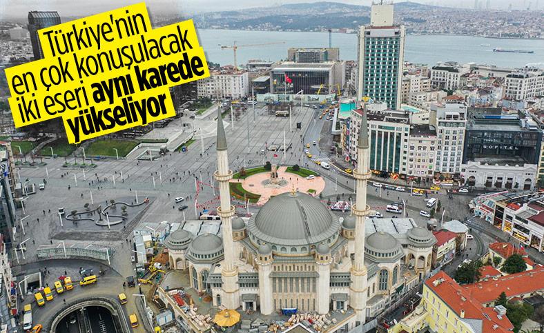 Taksim'de cami ve AKM inşaatında son aşama