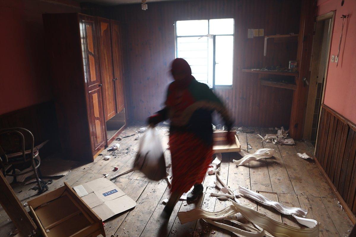 Trabzon da yangınla yok olan mahallede hasar tespiti yapılıyor #22