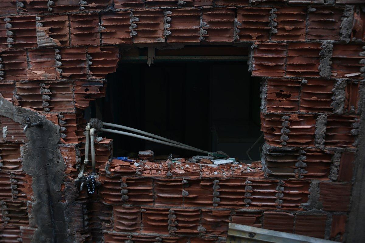 Trabzon da yangınla yok olan mahallede hasar tespiti yapılıyor #10