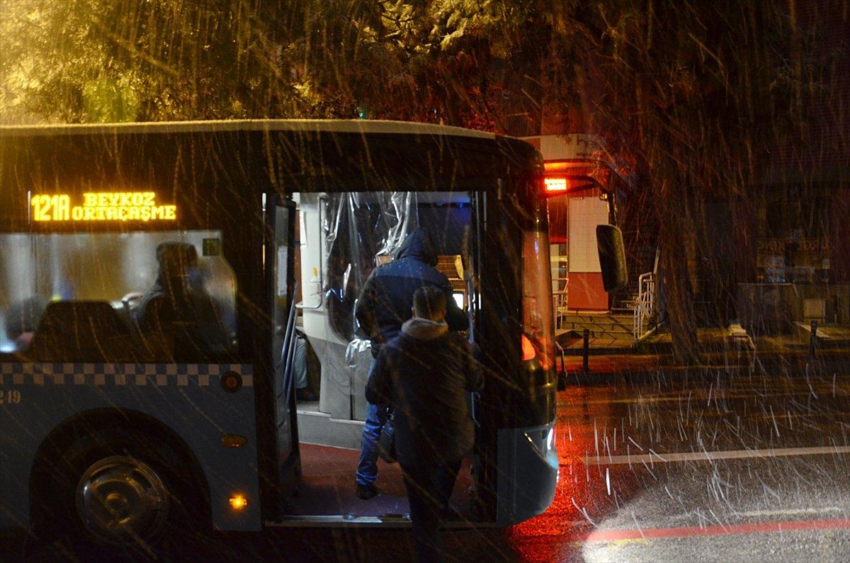 İstanbul da kar yağışı etkisini artırdı #3
