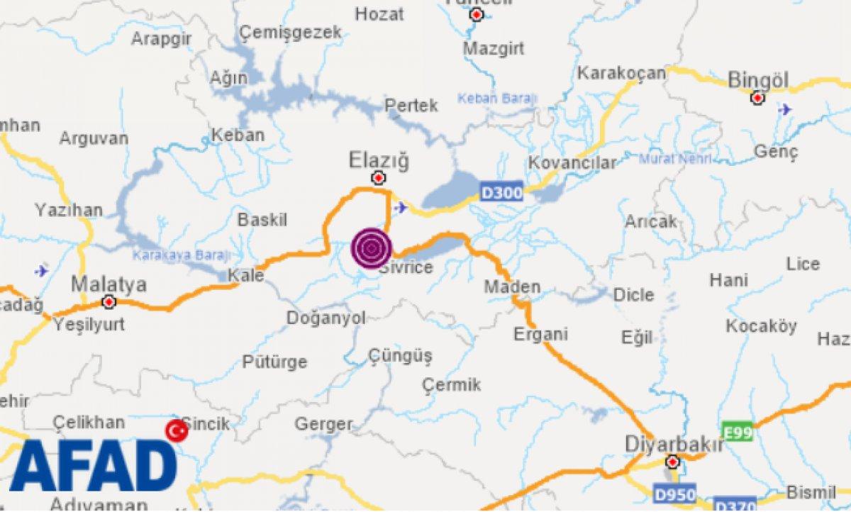Elazığ da 4.1 büyüklüğünde deprem #1