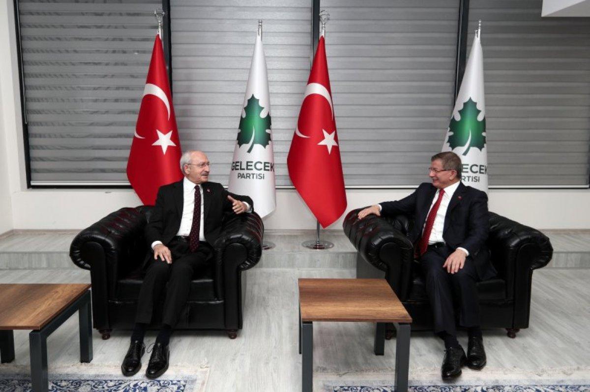 Kılıçdaroğlu, Davutoğlu na  geçmiş olsun  ziyareti yaptı #2